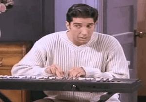 Ross au clavier