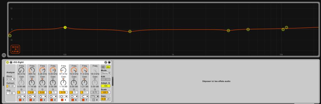 Image mixage audio: EQ master