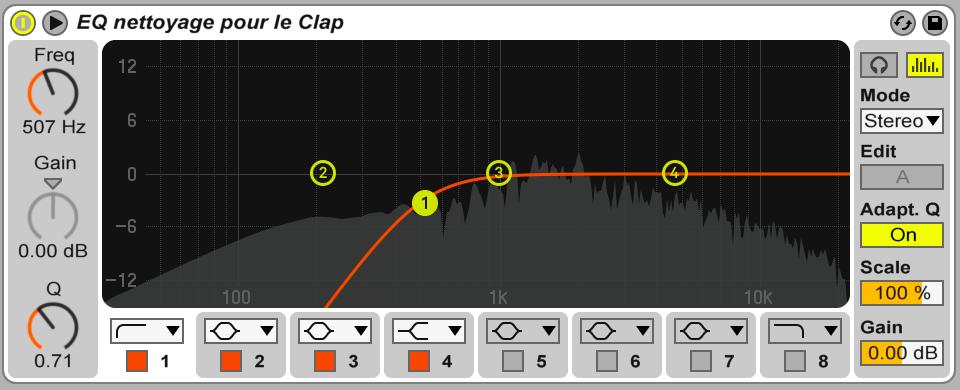 Image mixage audio: nettoyage bas spectre fréquences
