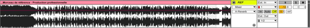 Image mixage audio: Piste de référence