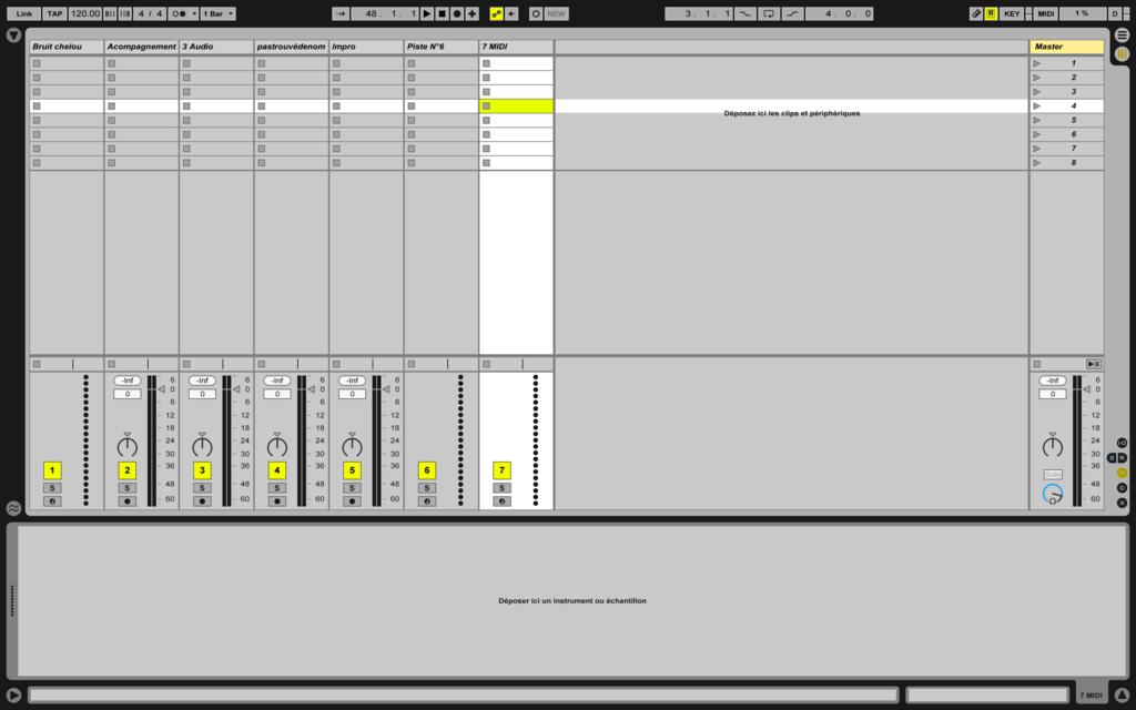 Image mixage audio: session non préparée