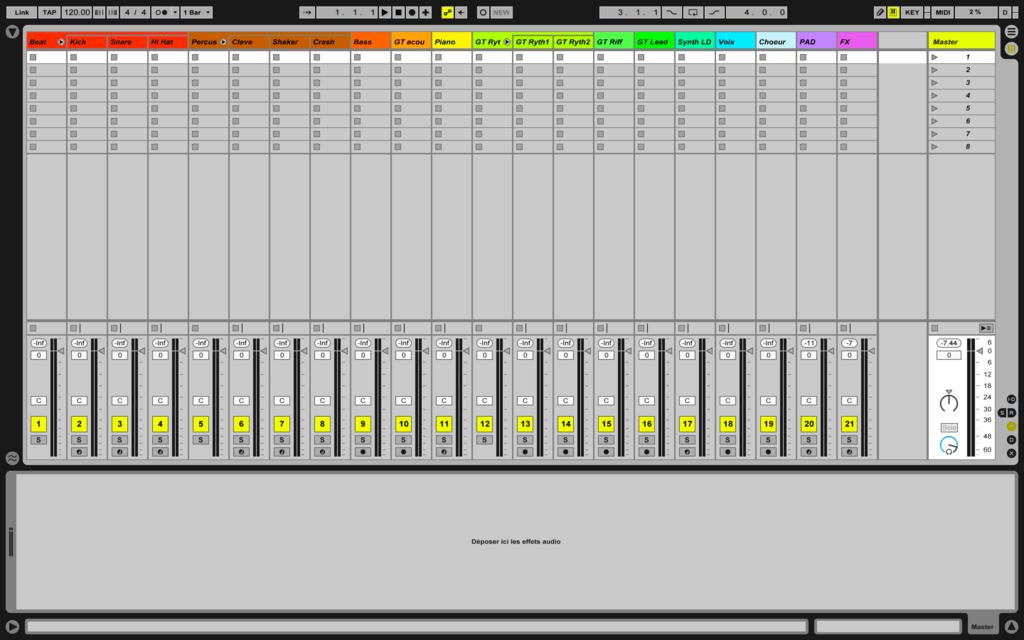 Image mixage audio: session préparée