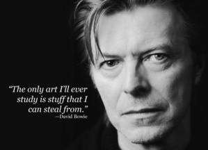 Trouver l'inspiration - Citation David Bowie
