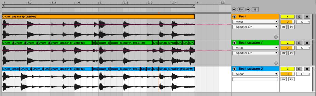 Image 3 exemples de beat